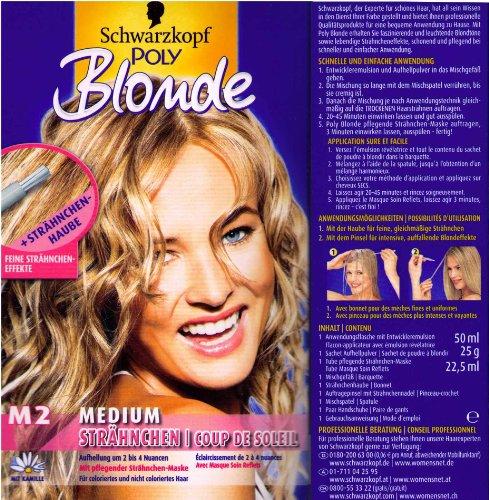 Schwarzkopf Poly Blonde Strähnchen M2 Medium Aufheller