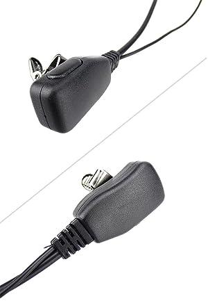 XFox 1Pin Advanced D Shape EarHook Earpiece with PTT Mic Headset for Motorola Cobra Talkabout MD200TPR MH230R MT350R MG160A MJ270R MT400 T6200 SX500 F