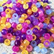 Goodlucky365 Scientific Multi Color Uv Beads, Changing Reactive Plastic Pony Beads, Sun Beads, Pack of 1000