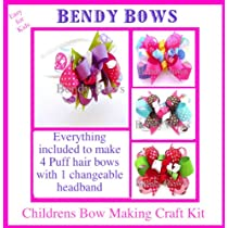 Kids Craftpuff Hair Bows Headbandhow to Make with Assembly Instructions Bendy Bow Kit Made in Usa Ages 9 & Up.great Gift Ideas.
