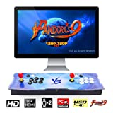 Pandora's Box 9 Multiplayer Joystick and Buttons Arcade Console, TAPDRA Arcade Games Machines for home, 1500 Retro Classic Video Games All in One, Newest System with Advanced CPU, Compatible with HDMI (Color: Pandora's Box 9)
