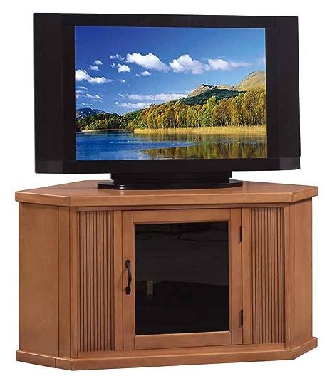 Glazed Buckskin Corner TV Stand