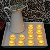 Candle Impressions Set of 12 Battery Operated Faux Wick LED Mini Cream Votives