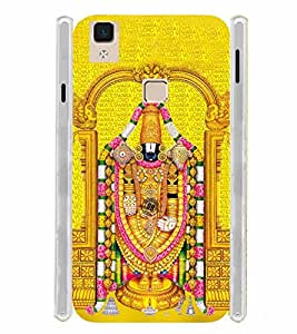 Lord Balaji Tirumula Tirupati Venkateshwar Soft Silicon Rubberized Back Case Cover for Vivo V3 Max