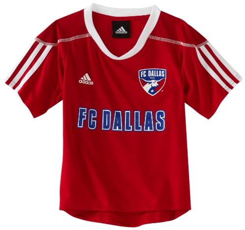 Mls Fc Dallas Blank Home Call Up 4-7 Boys Jersey (Red, 5/6 Medium)