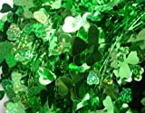 Shamrock Green St. Patricks Day Wire Party Garland, 6 pack - total 150 feet.