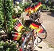 6x PROFEX EM WM Fahrradflagge Fahne Deutschland 14x21cm