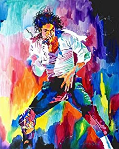 canvas giclee print painting michael jackson classic dance unstretched and unframed. Black Bedroom Furniture Sets. Home Design Ideas