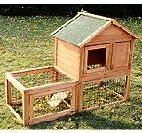 Pawhut-Wooden-Bunny-Rabbit-Hutch-w-Outdoor-Run