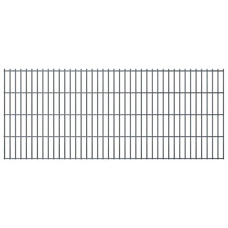 vidaXL Panneaux de clôture 2D pour jardin 2008x830 mm 20 m gris