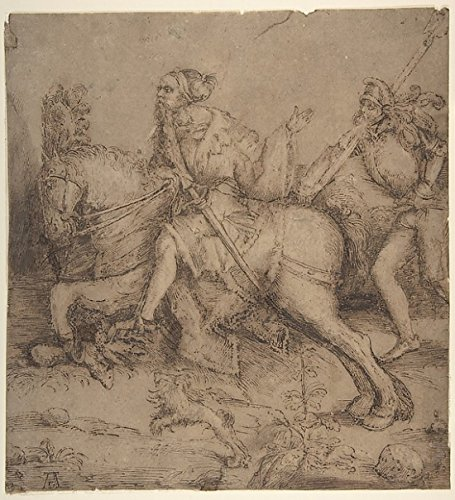 Knight On Horseback And Landsknecht Poster Print By Albrecht Dürer (18 X 24)