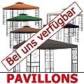 310g/m² Ersatzdach WASSERDICHT Beige ca. 3x3m Dach Pavillon Pavillion Pavillondach WASSERFEST von hot-stock - Gartenmöbel von Du und Dein Garten