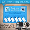 FogLess Anti Fog Inserts - for use with Go Pro Cameras