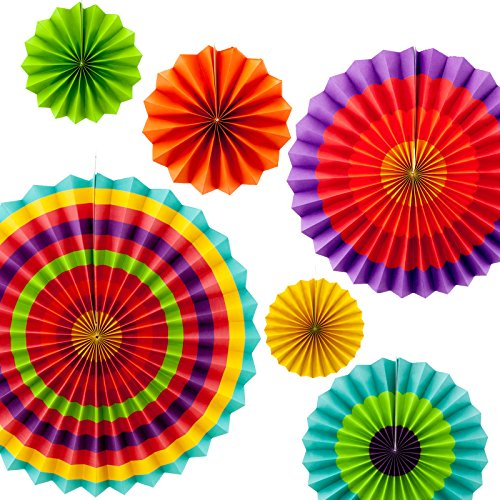 Tytroy Fiesta Paper Fan Decorations (Set of 6) (Mexican Fan Decorations compare prices)