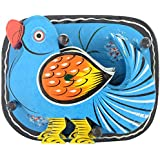Agrawal Toys Emporium Wooden Parrot Coaster With Stand, Set Of 6, Blue
