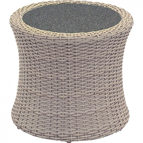 Casa Padrino Designer Garden lounge table braid with Spray Stone tabletop - garden furniture