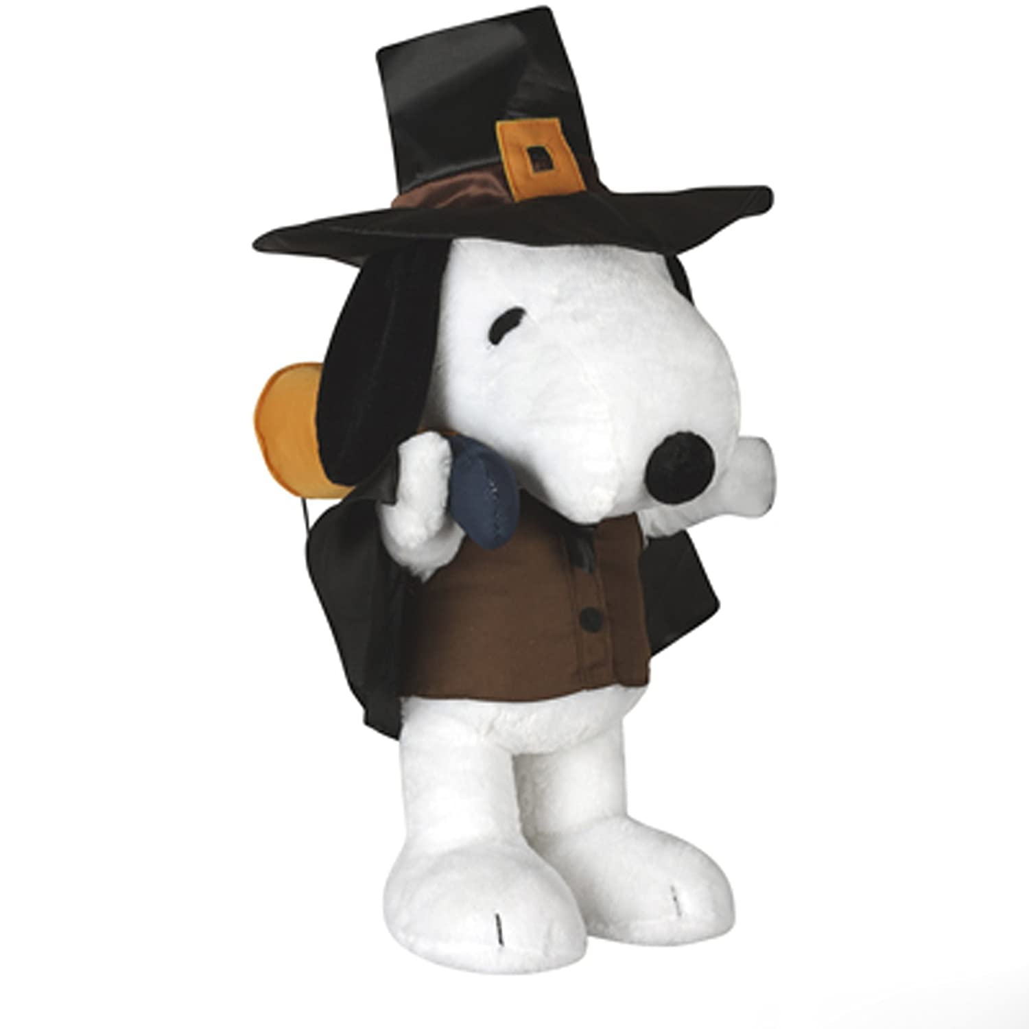 Lighted outdoor thanksgiving decorations - 2 Foot Tall Peanuts Snoopy Dressed As Pilgrim Thanksgiving Plush Greeter By Gemmy Snoopy Dressed As Pilgrim Stands Approximately 24 Inches Tall