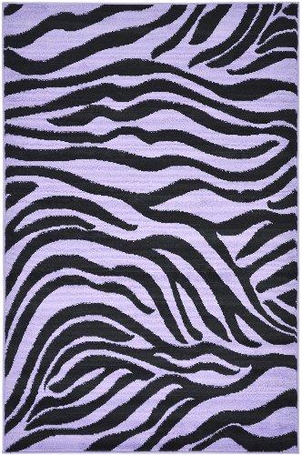 """Purple Animal Print Zebra Design Kids Rug (3'3""""X5'0"""")"""