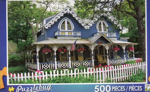 Decorative Old House on Martha's Vineyard - Puzzlebug - 500 Pc Jigsaw Puzzle - NEW