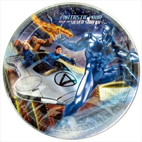 Fantastic Four 'Rise of the Silver Surfer' Small Paper Plates (8ct)