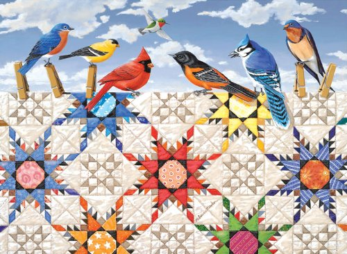 Feathered Stars a 500-Piece Jigsaw Puzzle by Sunsout Inc.