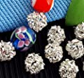 Skyllc® 10 X 8mm Jewelry Rhinestone Spacer Round Beads Rondelle CHIC