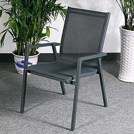 Ruby Tisch & 4 Stuhle - GRAU | Gartenmöbel-Set mit ausziehbarem 180cm Tisch