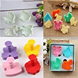 Ainest 1set 3D Baby Clothes Shower Hand Press Stamp Biscuit Cookie Plunger Cutter Mold