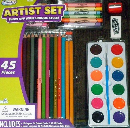 RoseArt Artist Set - 45 piece - 1