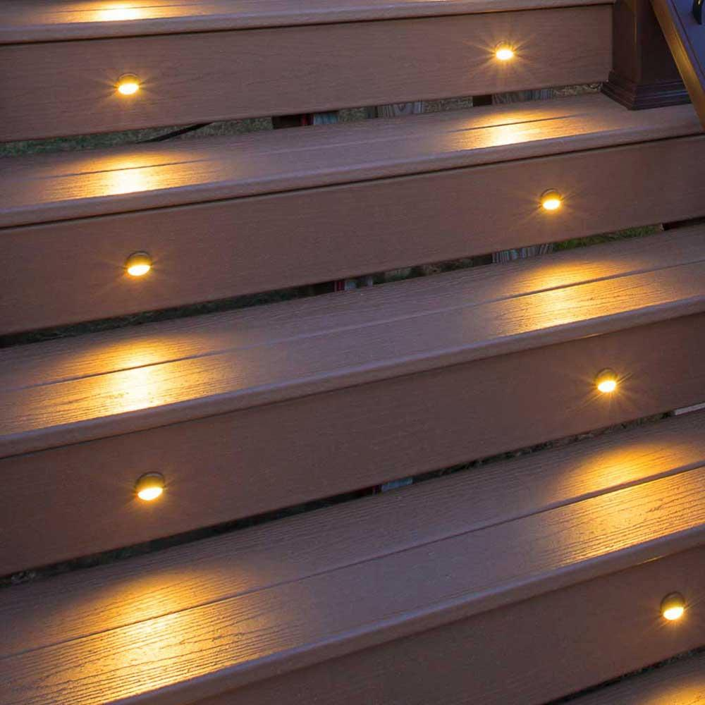 21 Staircase Lighting Design Ideas Pictures: Amazon.com: LED Stair Light- Bronze, (4- Pack