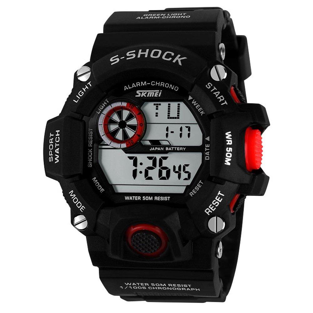Skmei 1019 Outdoor Sports Waterproof Shockproof Sports Fan Watch Multifunction Electronic Watch for Men