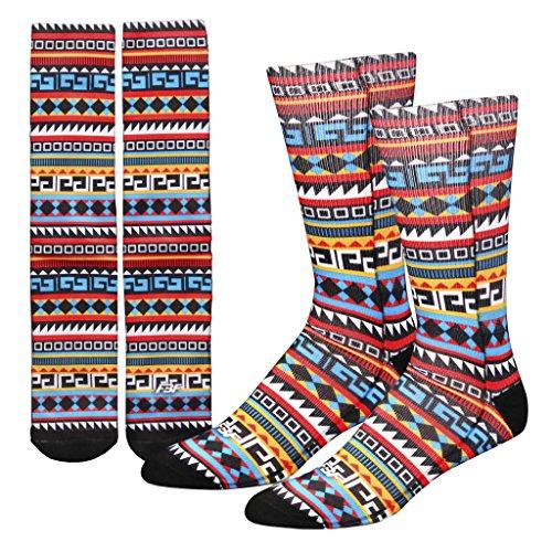 Tribal Print Geometric Sublimation Socks
