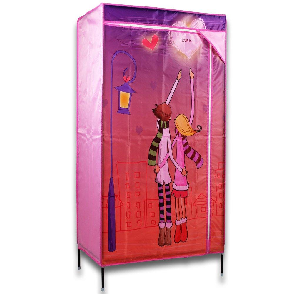 Kleiderschrank Kinder – Faltschrank für Kinder – Garderobenschrank – Stoffschrank für Kinder – Kinderkleiderschrank online kaufen
