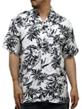 (ルーシャット) ROUSHATTE アロハシャツ 半袖 大きいサイズ シャツ レーヨン ハイビスカス 10color 3L 柄1
