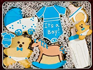 It's A Boy Sugar Cookie Sampler Gift Tin