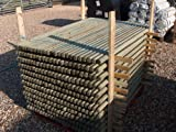 10 X WOODEN FENCE POSTS POLES OR TREE STAKES 1.2m (4ft) x 50mm diam. IDEAL FOR LIGHT FENCING