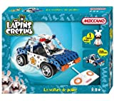 MECCANO Police car -A Raving rabbid has taken over a police car! Grab theremote control and get ready for one helluva ride! - 1 vehicle to build with remote control and 1 figure included in the box.- Stickers, tools and assembly instructions included.- 3