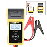 AUTOOL Automotive Battery Tester 12V/24V Car Battery System Tester Cranking and Charging Test System Analyzer Scan Tool with Printer (BT-660) (Color: BT-660)