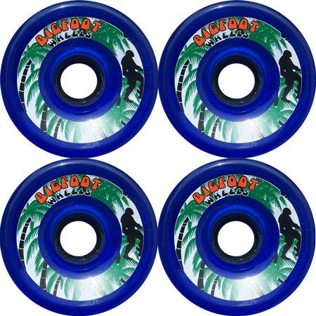 BIGFOOT PARADISE Longboard Wheels 76mm Blue 78a Abec 9