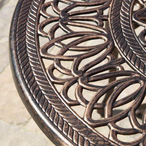 Gardena Cast Aluminum Outdoor Dining Set (Set of 7) 6