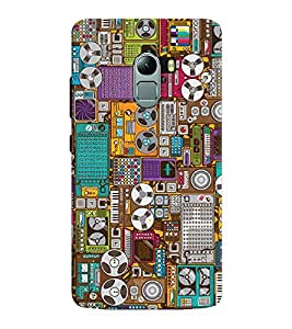 Chiraiyaa Designer Printed Premium Back Cover Case for Lenovo K4 Note (pattern electronic) (Multicolor)