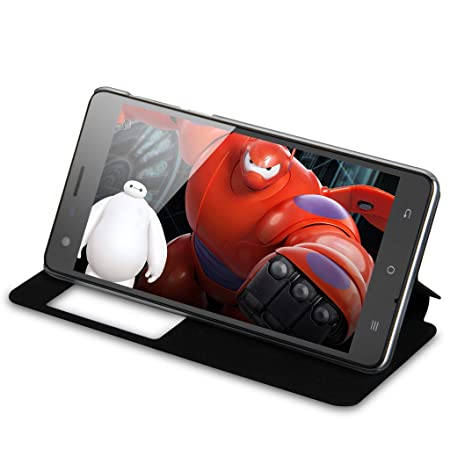 CUBOT S350 3G Smartphone 5,5'' IPS Ecran Android 4.4 Quad Core MTK6582 2Go RAM 16Go ROM Double SIM Double Caméra 8MP support WIFI GPS Bluetooth Compatible avec Orange SFR Bouygues Free Mobistar Proximus-Noir