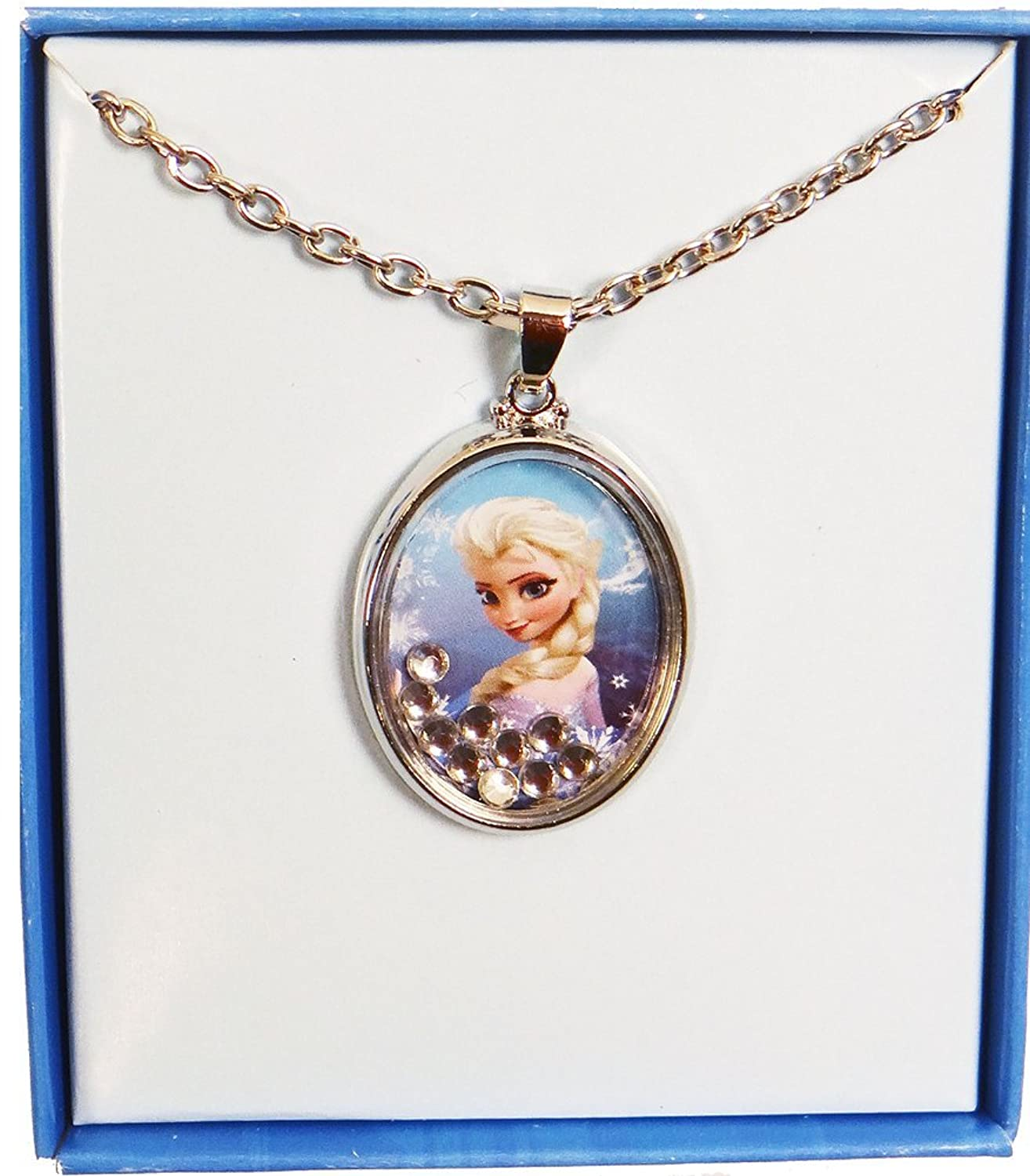Disney Frozen Queen Elsa Shaker Pendant Necklace
