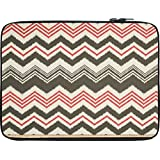 Snoogg Grey Pink Waves 2499 12 To 12.6 Inch Laptop Netbook Notebook Slipcase Sleeve