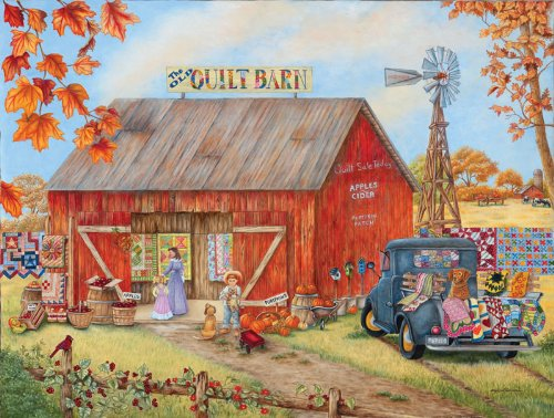 The Quilt Barn a 500-Piece Jigsaw Puzzle by Sunsout Inc.