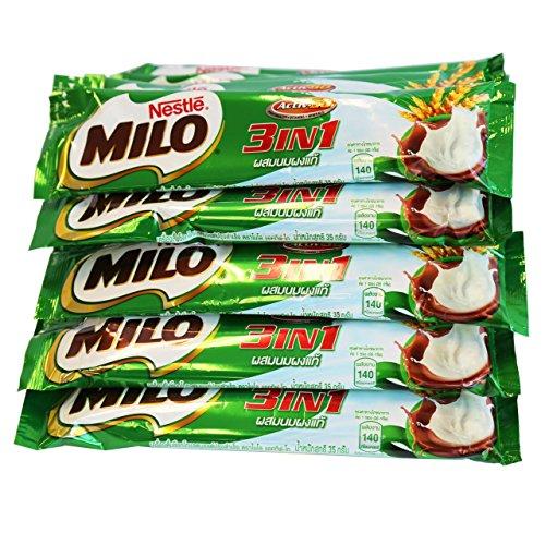 (Milo Activ-B 3in1 Chocolate Malt Flavoured Mixed Beverage 35g x 15 Sticks) by lalitphatthailand