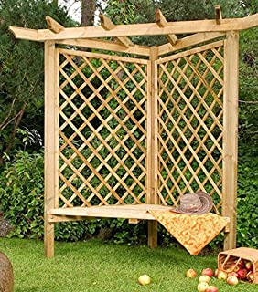 pergola bank gartenbank arkadenbank holz gartensitz. Black Bedroom Furniture Sets. Home Design Ideas