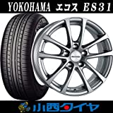 【16インチ】【フォルクスワーゲン用】 ヨコハマ エコス ES31 215/65R16 ユーロスピード フォックスR FOX-R タイヤ&ホイール4本セット ECOS