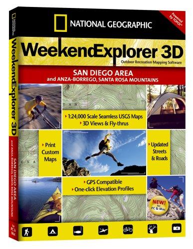 National Geographic TOPO! Weekend Explorer 3D (San Diego Area, Anza-Borrego, Santa Rosa Mountains)
