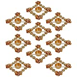 9 Sets Of Indian Decorations Diwali Diya Lights Candle Holder Floral Arrangement